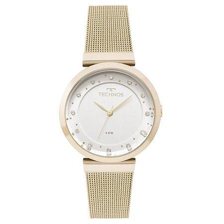 Relógio Technos Feminino Slim Dourado 2035MMX4X
