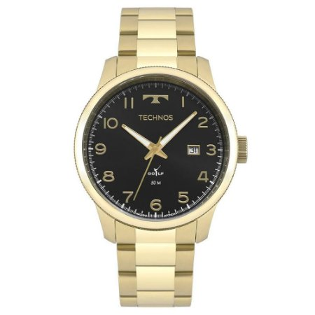 Relógio Technos Masculino Dourado 2315LAF4P