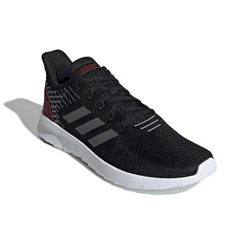Tênis Adidas Asweerun Preto/Vinho