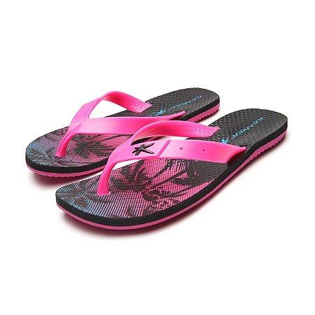 Sandália Kenner Summer Hawaii 2 Rosa/Preto