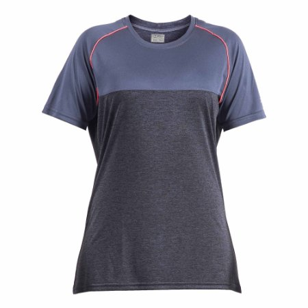 Camisa Poker Feminina Glory Msc Chumbo/Azul/Rosa
