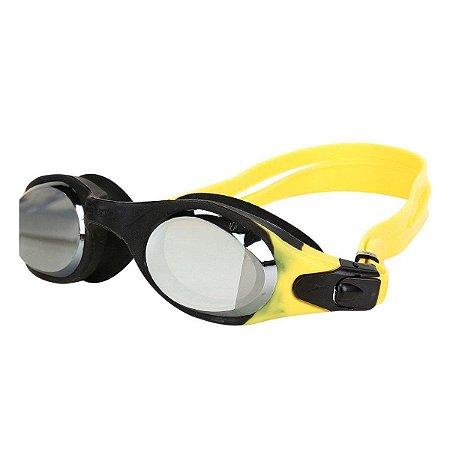 Óculos Natação Speedo Xpirit Mirror Amarelo Fume Espelhado