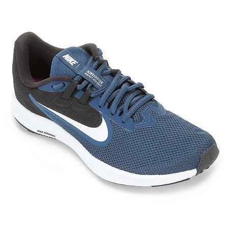 Tenis Nike Downshifter 9 Azul/Branco