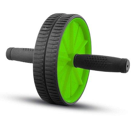 Roda De Exercicio Poker Abdominal Wheel Stability Preto/Verde