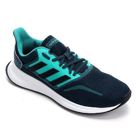 Tenis Adidas Run Falcon W Verde Escuro Feminino
