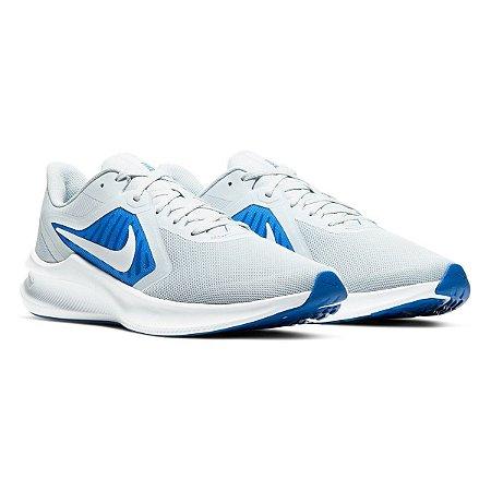 Tenis Nike Downshifter 10 Cinza/Azul Masculino