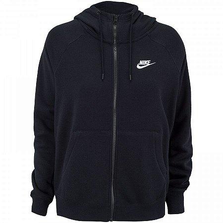 Jaqueta Moletom Nike Essential Hoodie Preto Feminino