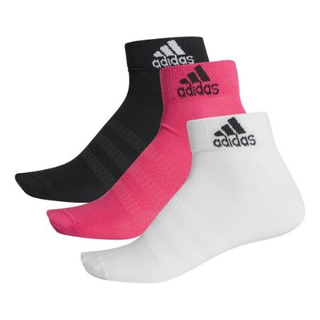 Kit 3 Meias Adidas Cano Medio Light Color 34-39
