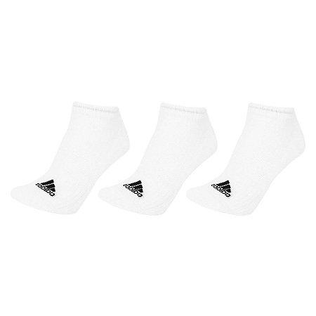 Kit 3 Meias Adidas Cano Baixo Liner Cushion Branca