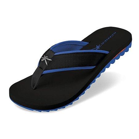 Sandália Kenner Kivah Cushy Preto/Azul