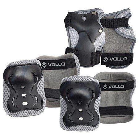 Kit De Proteção Set Vollo Preto