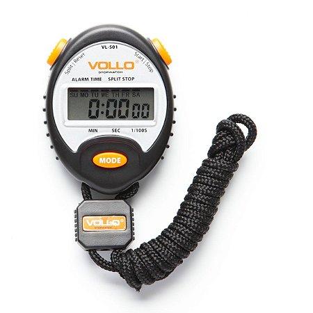 Cronômetro Stopwatch Vl501 Vollo Preto