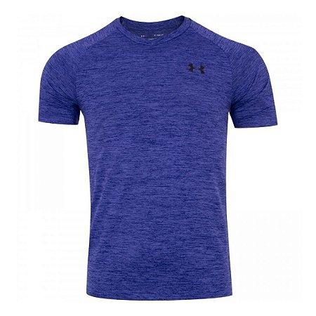 Camiseta Under Armour Tech 2.0 Azul Mescla Masculino