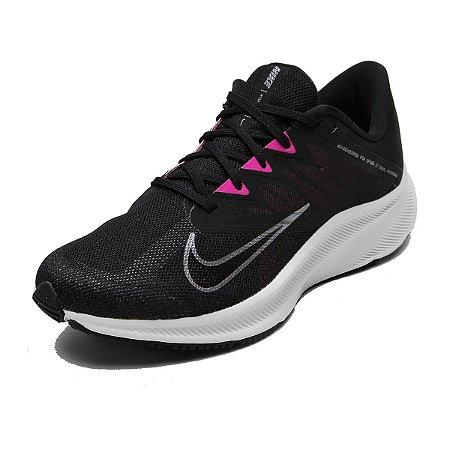 Tenis Nike Quest 3 Preto/Rosa Feminino