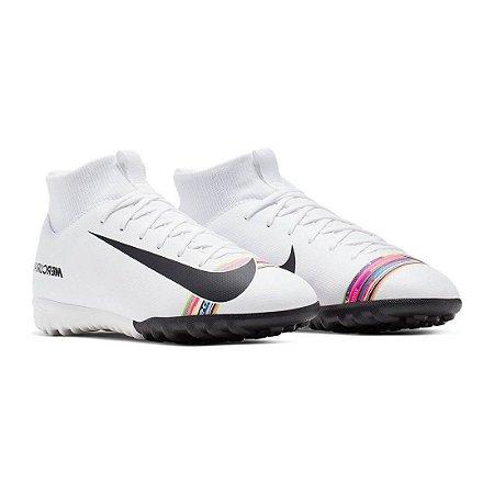Chuteira Society Nike Superfly 6 Academy Cr7 Branca Infantil