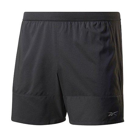 Shorts Reebok Run Refletivo 12cm Preto Masculino