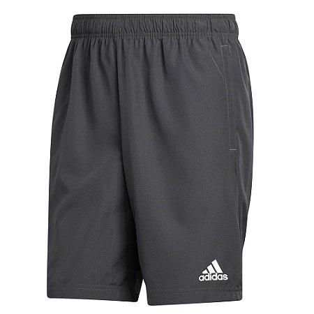 Shorts Adidas Plain Cinza Escuro Masculino