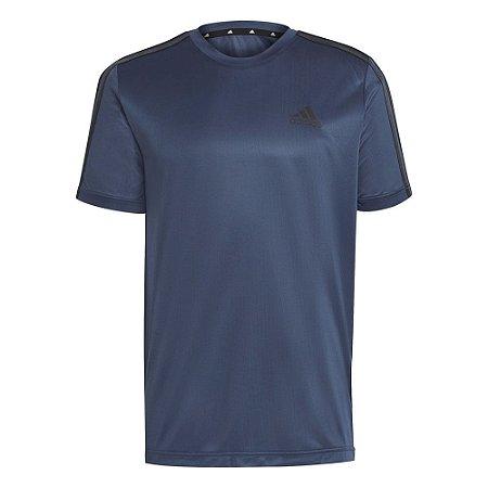 Camiseta Adidas Essentials 3s Perf Azul Marinho Masculino