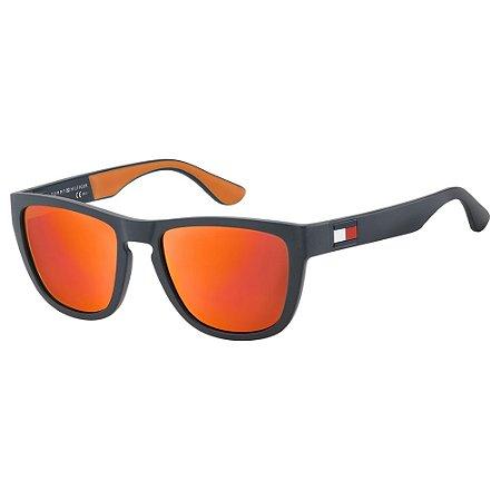 Óculos Tommy Hilfiger 1557/S 52 Preto/Laranja