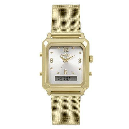 Relógio Condor Feminino  Dourado AnaDigital COBJ3718AB4K