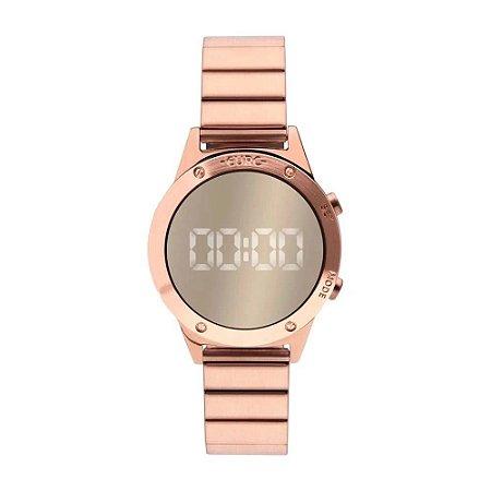Relógio Euro Feminino  Led Rose EUJHS31BACK4D