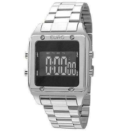 Relógio Euro Feminino  Prata Digital EUG2510AB3P