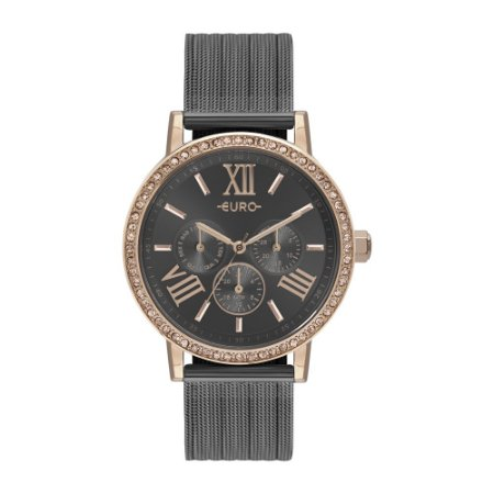 Relógio Euro Feminino Preto/Rose EU6P29AHK5F