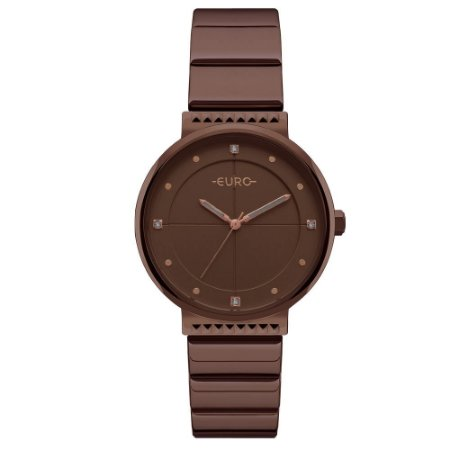 Relógio Euro Feminino Slim Marrom EU2035YSF4M