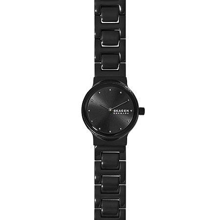 Relógio Skagen Feminino Elegant Preto Analógico SKW28301PN