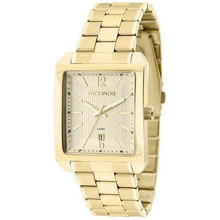 Relógio Technos Masculino  Dourado Analógico 2115KOB1D