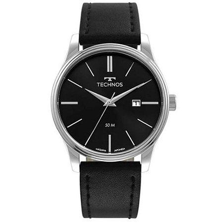 Relógio Technos Masculino  Prata Analógico 2115MXU0P