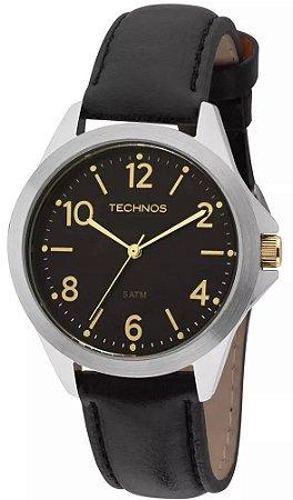 ec35104f8e0 Relógio Technos Pulseira de Couro Preto 2035MEL 0P