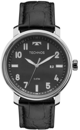 f7da79e8194 Relógio Technos Pulseira de Couro Preto 2115MNI 0P