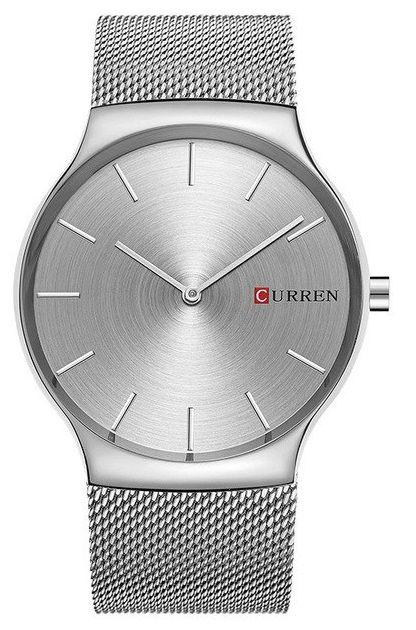 Relógio Slim Curren 8256 Prata