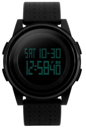 Relógio Skmei Slim 1206 Pulseira de Silicone Preto