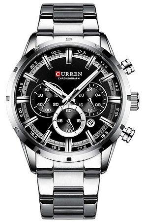 Relógio Curren 8355 Prata