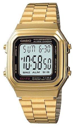 Relógio Casio A178WGA1ADFU Dourado