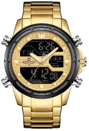 Relógio Naviforce 9138 Dourado