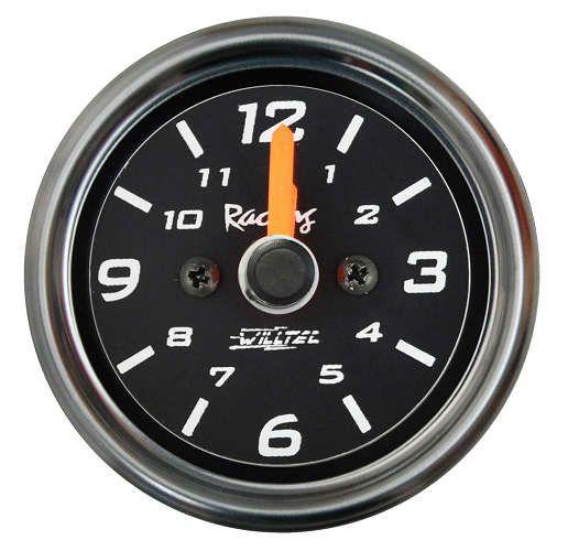 Relógio de Horas ø52mm Fundo Preto/Aro Inox | Willtec