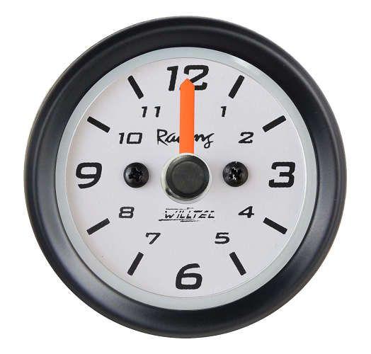 Relógio de Horas ø52mm Fundo Branco/Aro Preto | Willtec