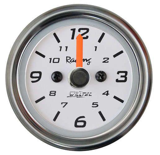 Relógio de Horas ø52mm Fundo Branco/Aro Inox | Willtec