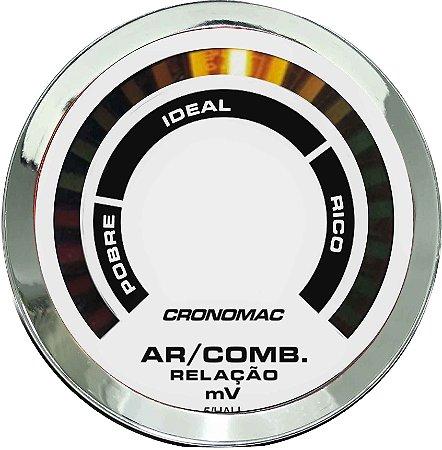 Hallmeter 52mm Cromado/Branco |Cronomac|