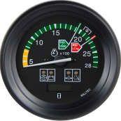 Tacômetro 2800RPM Bivolt 100mm c/ Ajuste/Horímetro Digital/Sinaleira 4 Funções | MASSEY FERGUSON|