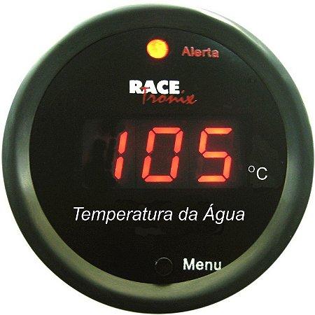 Temperatura da Água do Motor 52mm Display Vermelho Racetronix TH10