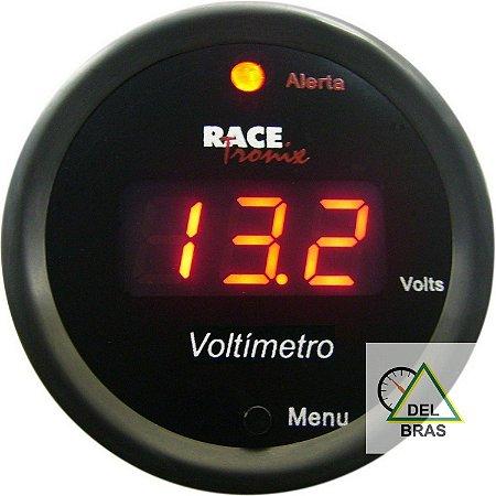 Voltímetro 52mm Display Vermelho Racetronix VT10