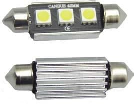 Led Torpedo 42mm 3 Leds Cambus 12v Shocklight