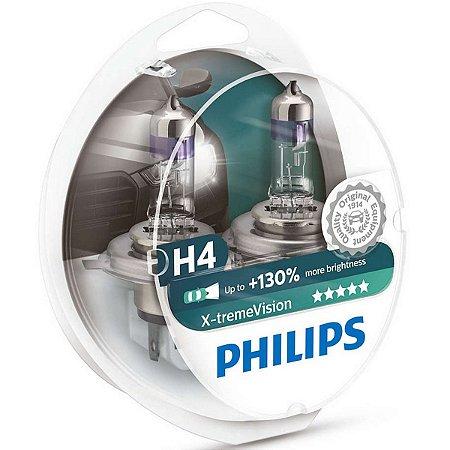 Lampada H4 X-treme Vision 130% Philips 60/55w 12v