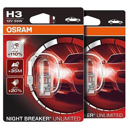 Lampada H3 Night Breaker 110% Osram 55w 12v