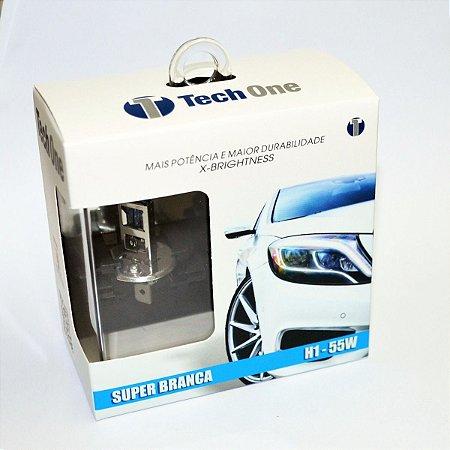 Lampada H1 Super Branca Tech One 55w 12v