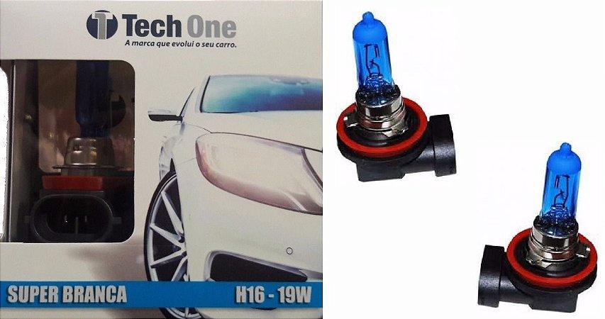 Lampada H16 Super Branca Tech One 19w 12v